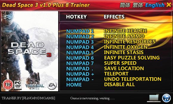 Dead Space 3 +8 Trainer [FliNG]