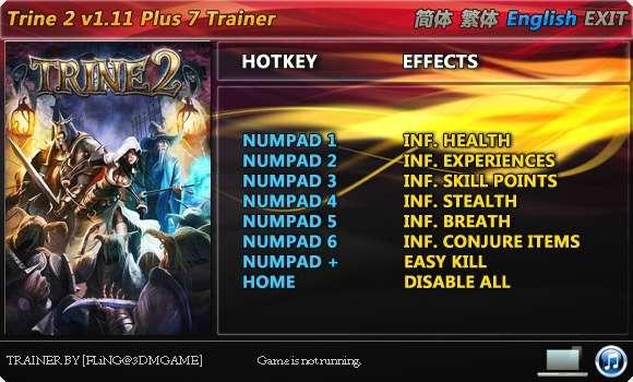 Trine 2 1.11 +7 Trainer [FliNG]