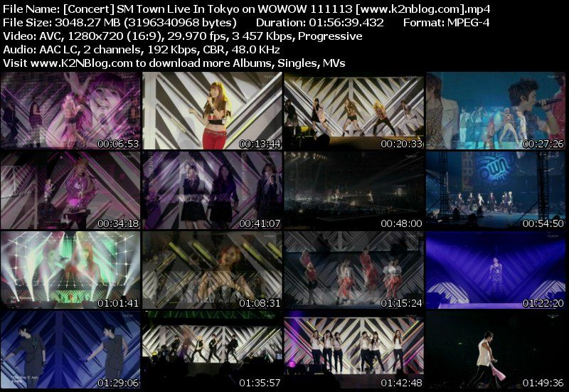 SM Town Live In Tokyo on WOWOW 111113 Full